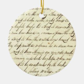 Antique Ephemera Cursive Calligraphy Script Poetry Ceramic Ornament