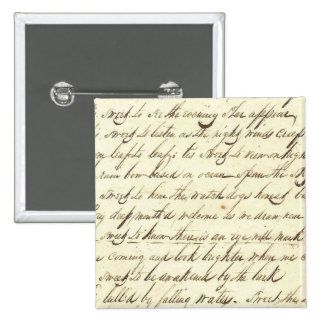 Antique Ephemera Cursive Calligraphy Script Sample Buttons