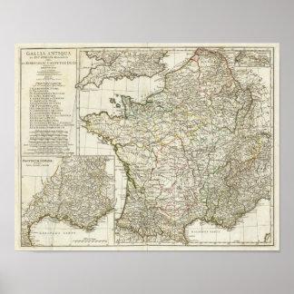 Antique European Map Poster
