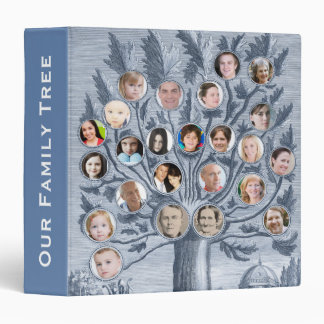 Antique Family Tree - Add up to 48 Photos 1.5 inch Vinyl Binder