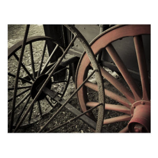 Antique Farm Cart Wheels Postcard