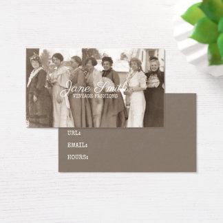 Antique Fashions Fancy Ladies Clothing Sepia Retro Business Card