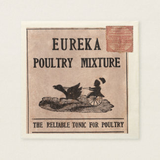 Antique Feed Canister Paper Napkin