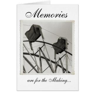 Antique Ferris Wheel Custom Greeting Cards