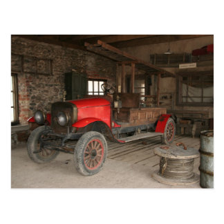 Antique fire-engine postcard