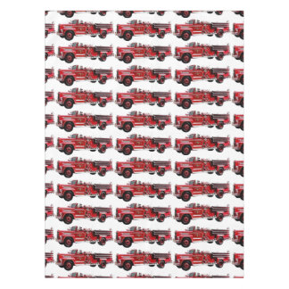 Antique Fire Engine Tablecloth