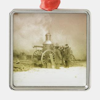 Antique Fire Men Metal Ornament