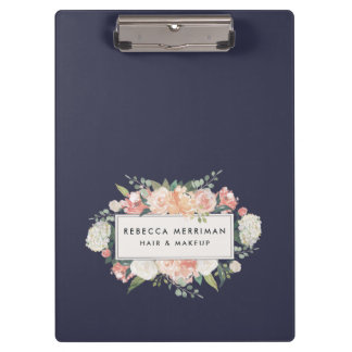Antique Floral Blush & Navy Clipboard
