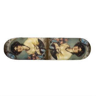 Antique Floral Butterfly Old fashion Paris Lady Custom Skate Board