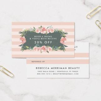 Antique Floral Frame | Referral Business Card