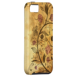 Antique Floral Pattern iPhone 5 Cases