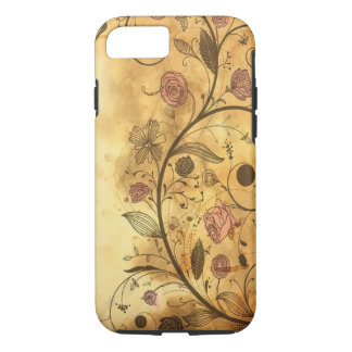 Antique Floral Pattern iPhone 7 Case