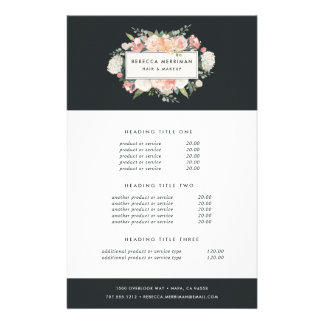 Antique Floral Pricing & Services Flyer