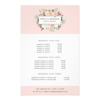 Antique Floral Pricing & Services Flyer