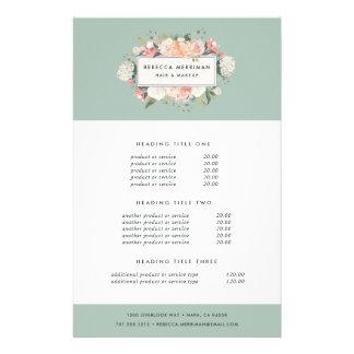Antique Floral Pricing & Services Flyer Design