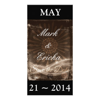 Antique Floral Save the Date Photo Card Template