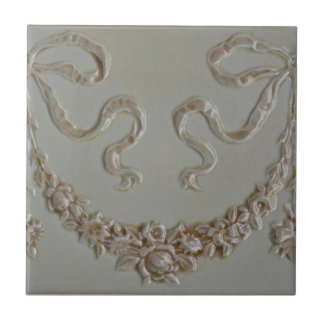 Antique Floral Swag Faux Dimensional Border Tile