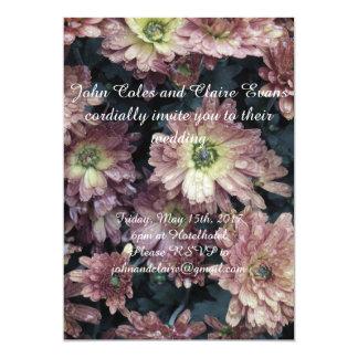 Antique flower wedding invitation