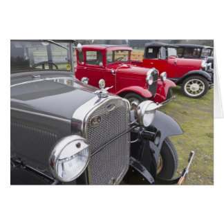 Antique Ford automobiles Greeting Card