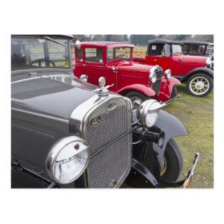 Antique Ford automobiles Postcard