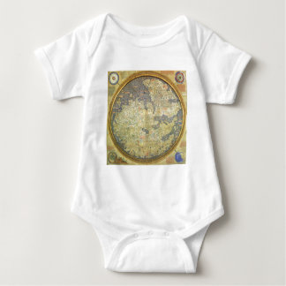 Antique Fra Mauro Map Asia Africa Europe Baby Bodysuit