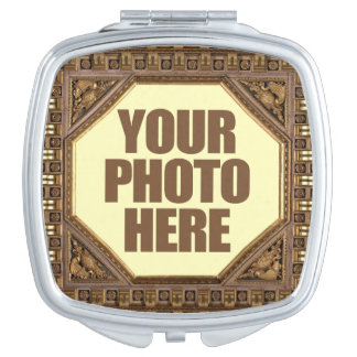 Antique Frame with YOUR PHOTO pocket mirror Vanity Mirror
