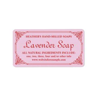 Antique French Border Lavender Soap Label Template