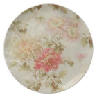 Antique French Floral Toile Plate