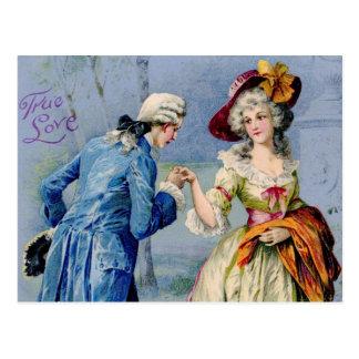 Antique French True Love Valentine Postcard