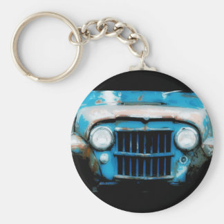 Antique Front Grille and Headlights Basic Round Button Keychain