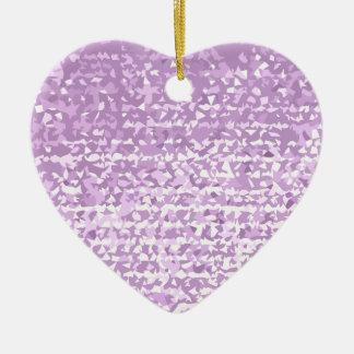 Antique Fuschia Camo Abstract Low Polygon Backgrou Ceramic Heart Ornament