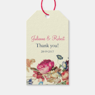 Antique Garden | Vintage Wedding Thank You Tags Pack Of Gift Tags