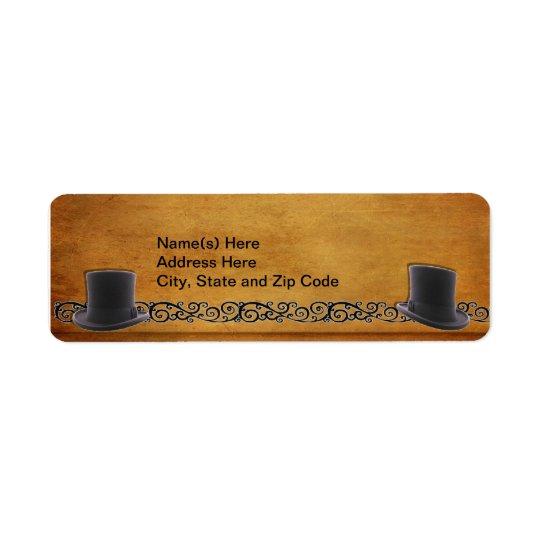 Antique Gay Wedding Custom Return Address Labels