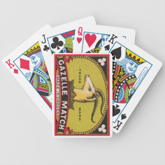 Antique Gazelle Swedish Matchbox Label Bicycle Playing Cards