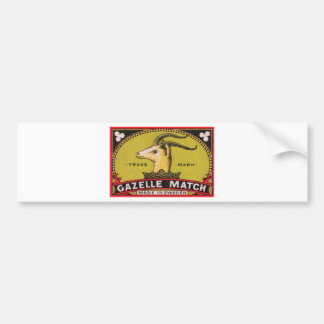 Antique Gazelle Swedish Matchbox Label Bumper Sticker