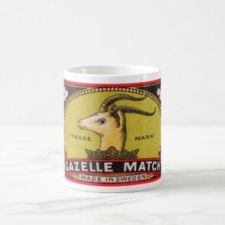 Antique Gazelle Swedish Matchbox Label Coffee Mug