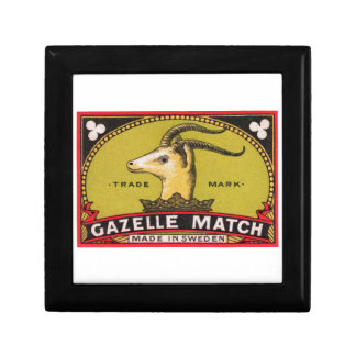 Antique Gazelle Swedish Matchbox Label Gift Box