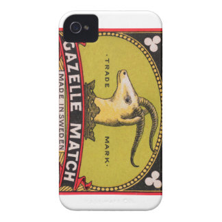 Antique Gazelle Swedish Matchbox Label iPhone 4 Case-Mate Case
