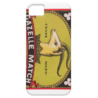 Antique Gazelle Swedish Matchbox Label iPhone 5 Covers