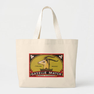 Antique Gazelle Swedish Matchbox Label Large Tote Bag
