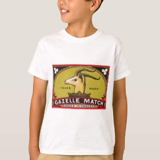 Antique Gazelle Swedish Matchbox Label T-Shirt