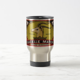 Antique Gazelle Swedish Matchbox Label Travel Mug