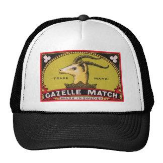 Antique Gazelle Swedish Matchbox Label Trucker Hat