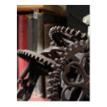 Antique Gears and Books Post Card