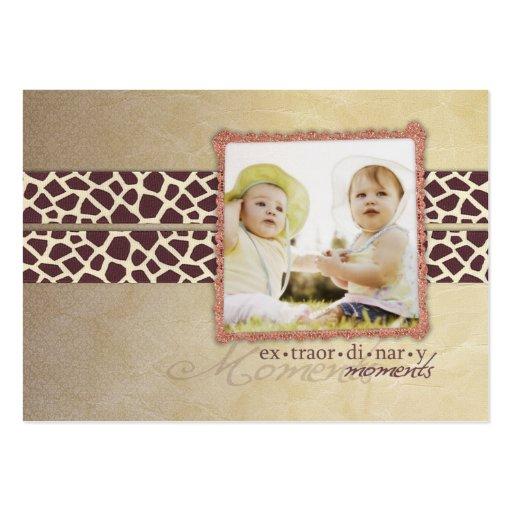 Antique Giraffe Chubby Business Cards