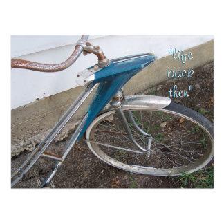 Antique Girl's  Bicycle postcard- customize Postcard