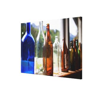Antique Glass Bottles Canvas Print