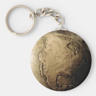 Antique globe key chain