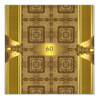 Antique Gold Book 3 Mens 60th Birthday Party Man Card