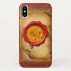 ANTIQUE GOLD FLORENTINE FORINT wax parchment Case-Mate iPhone Case